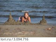 Замок из песка. Стоковое фото, фотограф Svetlana Zavrazhina / Фотобанк Лори