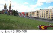 Купить «Ижевск, улица Карла Маркса», видеоролик № 3100400, снято 31 декабря 2011 г. (c) Кирилл Трифонов / Фотобанк Лори