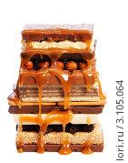 Купить «Плитки шоколада с карамельной глазурью», фото № 3105064, снято 7 мая 2011 г. (c) Сергей Новиков / Фотобанк Лори