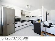 Купить «Кухня в современной квартире-студии», фото № 3106508, снято 1 июля 2010 г. (c) Николай Охитин / Фотобанк Лори