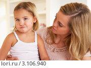 Купить «Молодая мама и капризная дочка», фото № 3106940, снято 11 ноября 2010 г. (c) Monkey Business Images / Фотобанк Лори