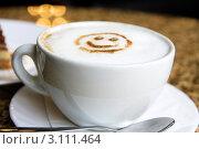 Купить «Капучино в кафе», фото № 3111464, снято 11 марта 2011 г. (c) Наталья Белотелова / Фотобанк Лори