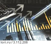 Купить «Бизнес-коллаж с графиками и стрелками на фоне современных зданий», иллюстрация № 3112208 (c) Sergey Nivens / Фотобанк Лори