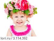 Купить «Портрет красивой маленькой девочки в венке», фото № 3114392, снято 1 декабря 2011 г. (c) Чирцова Наталья / Фотобанк Лори