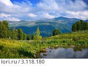 Купить «Летний пейзаж с горным озером», фото № 3118180, снято 18 июля 2011 г. (c) Яков Филимонов / Фотобанк Лори