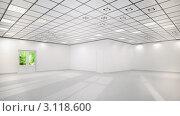 3д белый офис. Стоковая иллюстрация, иллюстратор Дина Гордиенко / Фотобанк Лори