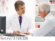 Купить «Пожилой мужчина на приеме у врача», фото № 3124328, снято 28 февраля 2011 г. (c) Monkey Business Images / Фотобанк Лори