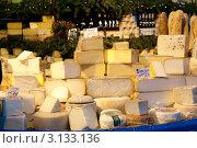 Купить «Сыры на рынке в Мюнхене. Бавария. Германия», фото № 3133136, снято 7 января 2012 г. (c) Екатерина Овсянникова / Фотобанк Лори