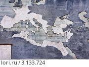 Купить «Рим, Италия. Карта могучей когда-то Римской Империи», фото № 3133724, снято 26 августа 2008 г. (c) ElenArt / Фотобанк Лори