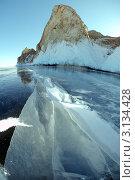 Ледяные пейзажи Байкала. Стоковое фото, фотограф Некрасов Андрей / Фотобанк Лори