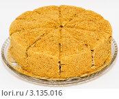 Купить «Медовый торт», фото № 3135016, снято 9 декабря 2011 г. (c) Александр Подшивалов / Фотобанк Лори
