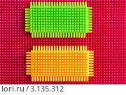 Купить «Фон из пластиковых элементов детского конструктора», фото № 3135312, снято 12 января 2012 г. (c) Николай Винокуров / Фотобанк Лори