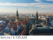 Вид Дрезденв с высоты птичьего полета. Германия, фото № 3135624, снято 25 ноября 2011 г. (c) Алексей Ширманов / Фотобанк Лори