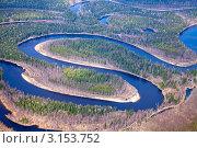 Река в осеннем лесу, фото № 3153752, снято 27 мая 2010 г. (c) Владимир Мельников / Фотобанк Лори