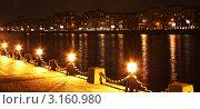Фонари на набережной Москвы-реки. Стоковое фото, фотограф Самарина Оксана / Фотобанк Лори