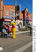 Купить «Винни-пух на улице города Истры», фото № 3161012, снято 9 октября 2010 г. (c) Глазков Владимир / Фотобанк Лори