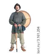 Купить «Воин с топором и щитом», фото № 3161204, снято 3 июля 2011 г. (c) Андрей Фадеев / Фотобанк Лори