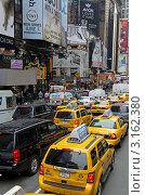 Купить «Плотное дорожное движение на Таймс-сквер в Нью-Йорке», фото № 3162380, снято 16 мая 2011 г. (c) Аркадий Захаров / Фотобанк Лори