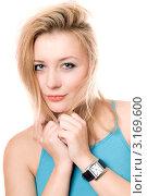 Купить «Портрет красивой блондинки», фото № 3169600, снято 7 января 2010 г. (c) Сергей Сухоруков / Фотобанк Лори