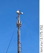 Купить «Вышка сотовой и телевизионной связи», фото № 3175152, снято 10 декабря 2011 г. (c) Евгений Ткачёв / Фотобанк Лори