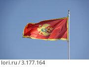 Флаг Черногории. Стоковое фото, фотограф Владимир Гарникян / Фотобанк Лори