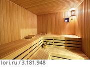 Купить «Интерьер сауны», фото № 3181948, снято 30 декабря 2011 г. (c) Игорь Долгов / Фотобанк Лори