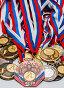 Много спортивных медалей, эксклюзивное фото № 3184244, снято 23 января 2012 г. (c) Игорь Низов / Фотобанк Лори