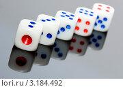 Купить «Игральные кости», фото № 3184492, снято 2 ноября 2011 г. (c) Алексей Дмецов / Фотобанк Лори