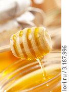 Купить «Деревянная палочка с медом», фото № 3187996, снято 9 марта 2011 г. (c) Dzianis Miraniuk / Фотобанк Лори
