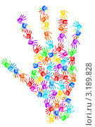 Купить «Отпечатки руки сложены в форме ладони», фото № 3189828, снято 11 января 2009 г. (c) Elnur / Фотобанк Лори