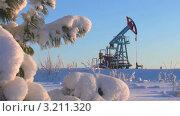 Купить «Добыча нефти. Сибирское морозное утро», видеоролик № 3211320, снято 2 февраля 2012 г. (c) Икан Леонид / Фотобанк Лори