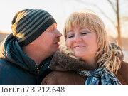 Купить «Счастливая пара.Мужчина хочет поцеловать женщину», эксклюзивное фото № 3212648, снято 28 января 2012 г. (c) Игорь Низов / Фотобанк Лори