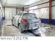 Купить «Автомойка», фото № 3212776, снято 19 января 2012 г. (c) Art Konovalov / Фотобанк Лори