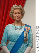 Купить «Английская королева Елизавета Вторая. Восковая скульптура, музей мадам Тюссо в Гонконге», эксклюзивное фото № 3216012, снято 22 января 2012 г. (c) Ольга Липунова / Фотобанк Лори