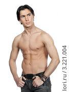 Купить «Молодой мужчина с обнажённым торсом», фото № 3221004, снято 27 января 2012 г. (c) Михаил Иванов / Фотобанк Лори