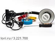 Светильник с электроинструментом (2012 год). Редакционное фото, фотограф Игорь Алексеенко / Фотобанк Лори