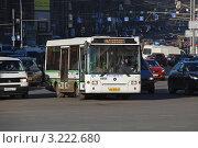 Купить «Транспорт едет по Тверской улице . Москва», эксклюзивное фото № 3222680, снято 30 января 2012 г. (c) lana1501 / Фотобанк Лори