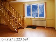 Купить «Новый дом. Свет в окошке», эксклюзивное фото № 3223624, снято 8 января 2012 г. (c) Валерия Попова / Фотобанк Лори