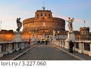 Купить «Замок Святого Ангела вечером, Рим, Италия», фото № 3227060, снято 10 марта 2011 г. (c) Знаменский Олег / Фотобанк Лори