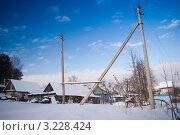 Купить «Деревенский пейзаж зимой», фото № 3228424, снято 20 января 2018 г. (c) Армен Богуш / Фотобанк Лори