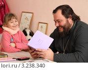 Купить «Православная воскресная школа. Урок.», эксклюзивное фото № 3238340, снято 5 февраля 2012 г. (c) Дмитрий Неумоин / Фотобанк Лори