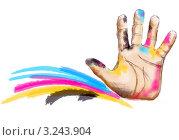 Рука в чернилах. Стоковая иллюстрация, иллюстратор Евгения Молокеева / Фотобанк Лори
