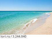 Красивый вид побережья и пляжа. Beautiful view of the coast. Стоковое фото, фотограф Анна Лисовская / Фотобанк Лори