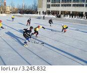Купить «Спортивная игра в хоккей на льду», фото № 3245832, снято 28 января 2012 г. (c) Сергей Овчинников / Фотобанк Лори