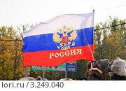 Российский флаг. Стоковое фото, фотограф Алёшина Оксана / Фотобанк Лори