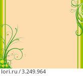 Орнамент на светлом оранжевом фоне. Стоковая иллюстрация, иллюстратор Поздеева Наталья / Фотобанк Лори
