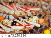 Купить «Рыба и крабовые палочки на шведском столе», фото № 3250984, снято 31 декабря 2011 г. (c) Яков Филимонов / Фотобанк Лори