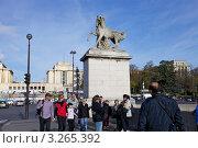 Купить «Париж. Туристы на Йенском мосту», эксклюзивное фото № 3265392, снято 7 октября 2011 г. (c) Яна Королёва / Фотобанк Лори