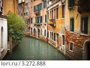 Водный канал в Венеции (2010 год). Стоковое фото, фотограф Sergey Borisov / Фотобанк Лори