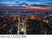 Купить «Вид на Нью-Йорк после заката», фото № 3272968, снято 19 сентября 2018 г. (c) Sergey Borisov / Фотобанк Лори